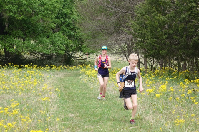 Trail running is a family afair for this mom and son power house